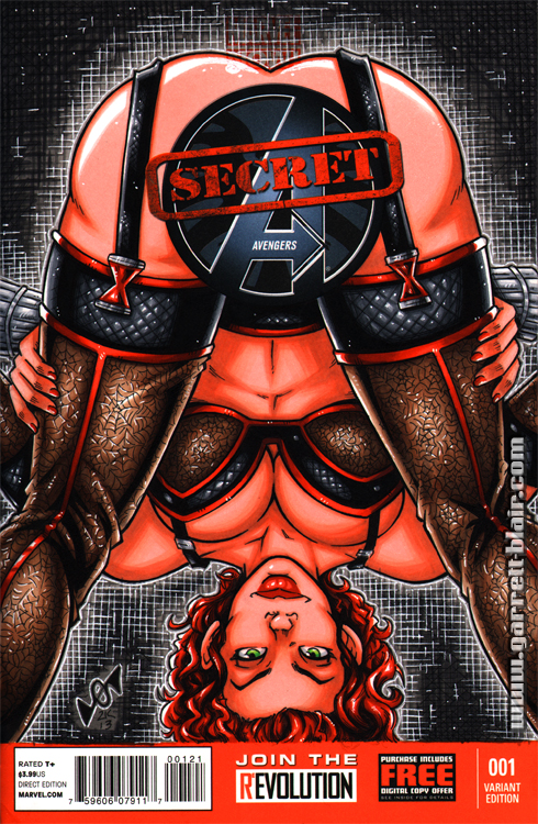 Black Widow Secret sketch cover by gb2k