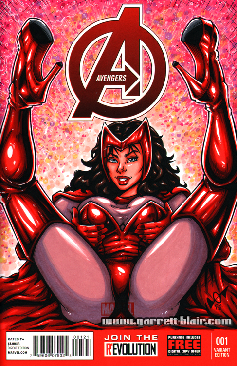 Scarlet Witch sketch cover by gb2k