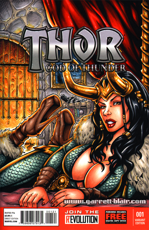 Female Loki sketch cover by gb2k