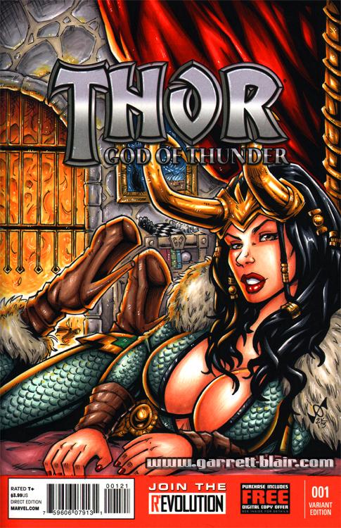 Female Loki sketch cover by gb2k