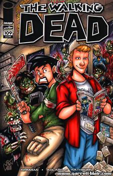 Clerks Walking Dead sketch cover