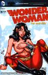 Wondergirl Tease sketch cover