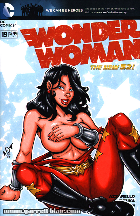 Wondergirl Tease sketch cover by gb2k