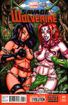 Savage Land Psylocke + Blink sketch cover