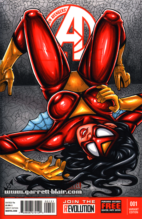 Spiderwoman sketch cover by gb2k