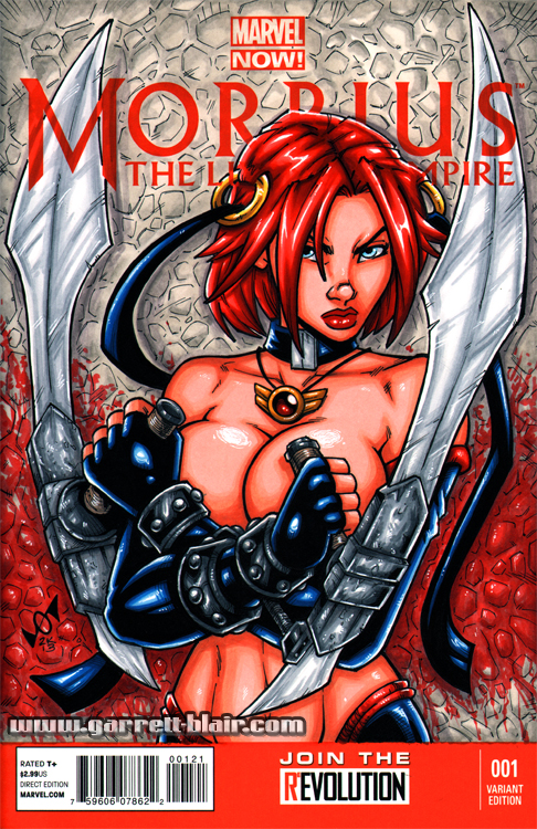Bloodrayne sketch cover by gb2k