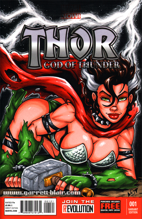 Rogue Thor What If? sketch cover by gb2k