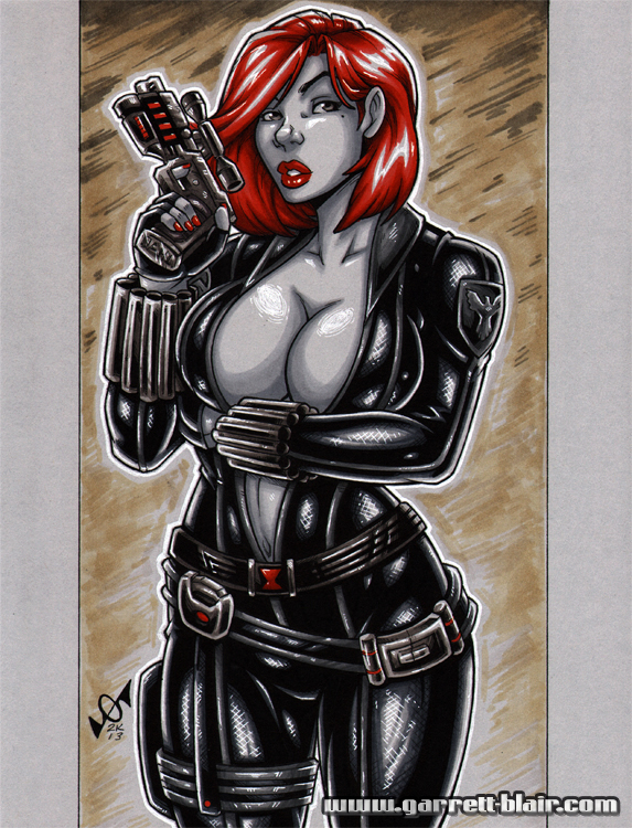 Black Widow greytone by gb2k