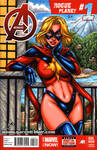 Classic Ms Marvel sketch cover