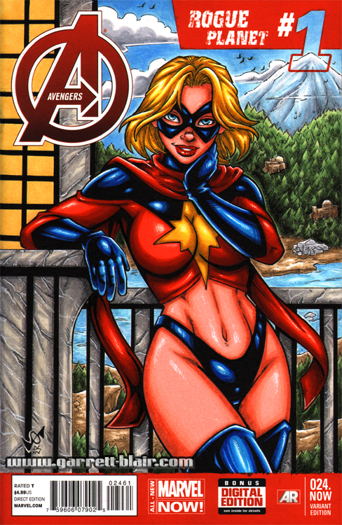 Classic Ms Marvel sketch cover by gb2k