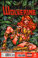 Savage Land Phoenix sketch cover by gb2k