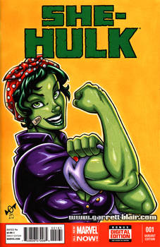 She Hulk the Riveter sketch cover