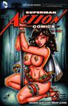 Mary Marvel stripper sketch cover