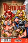 Red Sonja + Valkyrie sketch cover