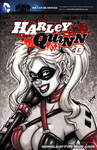 French Harley bust sketch cover