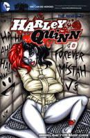Harley Quinn Committed sketch cover by gb2k