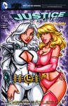Dreamer + Saturn Girl sketch cover