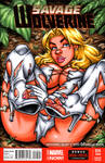 Savage Land White Queen sketch cover