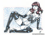 Mary Jane symbiote lingerie blueline pencils