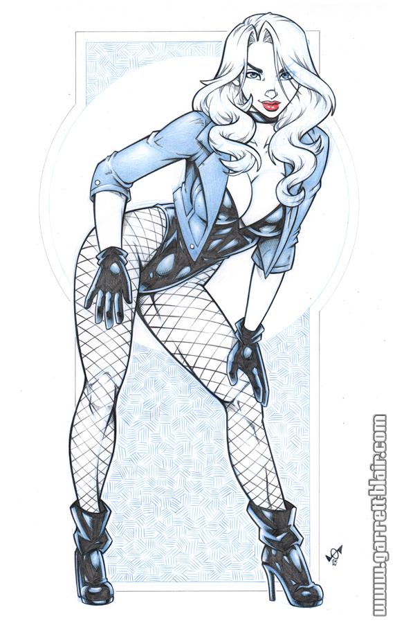 Black Canary blueline bodyshot by gb2k