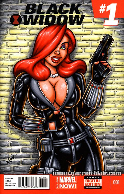 Jessica Rabbit Black Widow sketch cover by gb2k