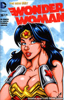Wonder Woman bust cover by gb2k