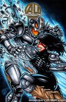 Alita vs Ultron sketch cover by gb2k