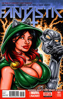 Ivy Doomkitty bust sketch cover by gb2k