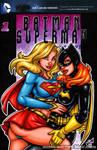 Supergirl + Batgirl sketch cover
