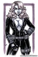Black Widow 11x17 greytone commission by gb2k