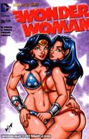 Wonder Woman + Wondergirl bikini sketch cover by gb2k
