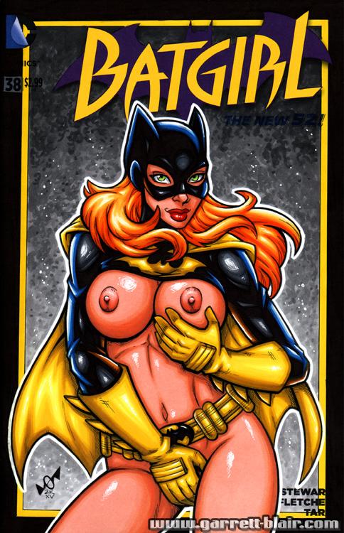 Naughty Batgirl sketh cover by gb2k