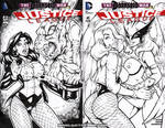 Naughty JL41 cover WIP inks by gb2k