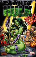 Stripper She Hulk sketch cover by gb2k
