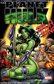 Stripper She Hulk sketch cover