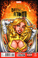 Phoenix Force White Queen bust cover by gb2k