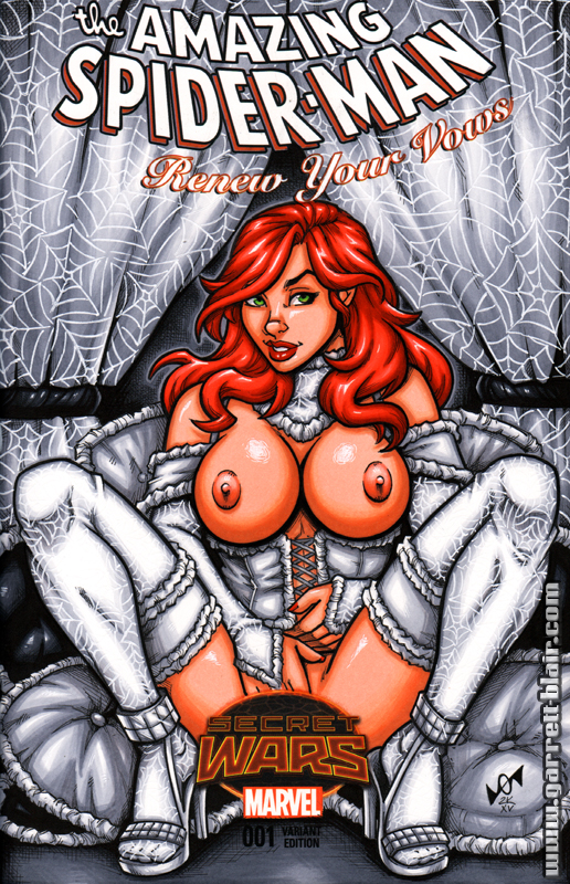 Naughty Mary Jane bridal lingerie sketch cover by gb2k