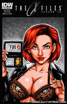 Busty Dana Scully sketch cover