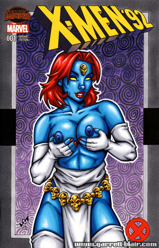 Naughty Mystique sketch cover by gb2k