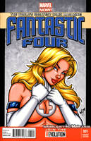 Sue Storm bust tease cover by gb2k