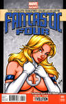 Sue Storm bust tease cover