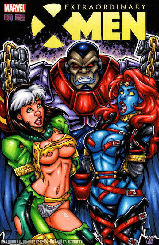 AoA Rogue + Mystique captured sketch cover by gb2k