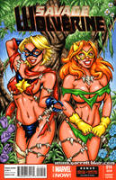 Savage Land Marvels sketch cover by gb2k
