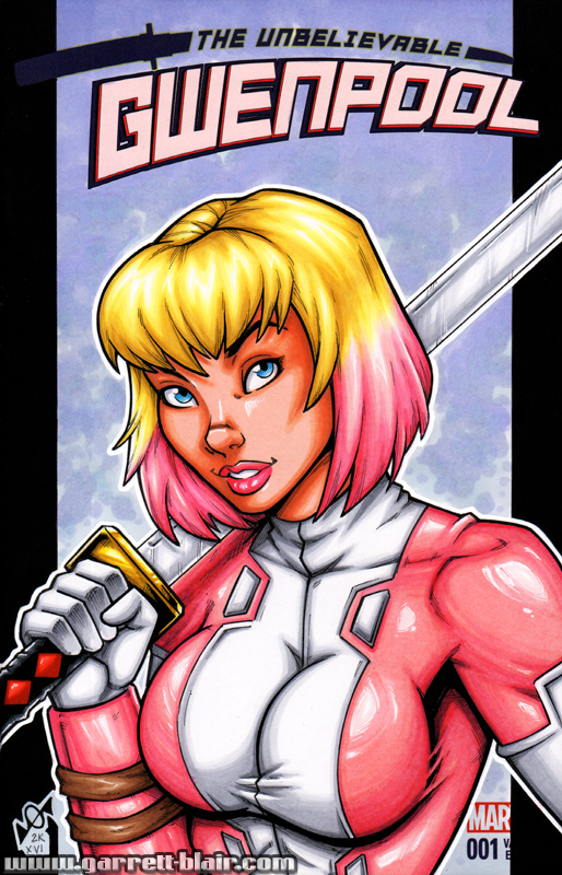 Gwenpool unmasked bust cover by gb2k