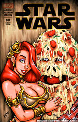 Jessica + Pizza the Hutt sketch cover by gb2k