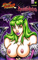 Naughty Morrigan bust cover by gb2k