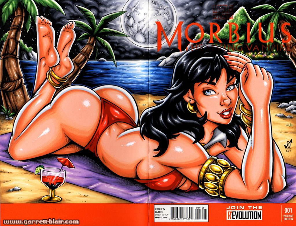 Moonbathing Vampirella sketch cover