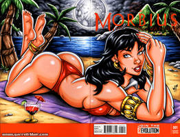 Moonbathing Vampirella sketch cover