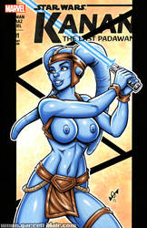 Naughty Aayla Secura sketch cover by gb2k