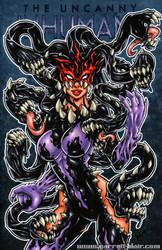 Venomized Medusa sketch cover by gb2k